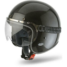 Airoh Garage Gloss Carbon Moto Motorcycle Motorbike Open Face Helmet | All Sizes