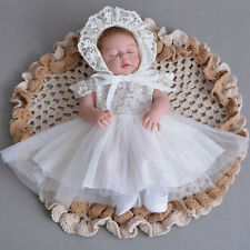 Embroidery Lace Baptism Dress Elegant Christening Gown Baby Christening Dress