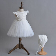 Baby Christening Dress Floral Elegant Christening Gown Embroidered Lace Baptism