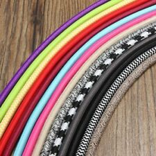 1M Vintage Colorful Twist Braided Fabric Cable Wire Electric Pendant Light Acces