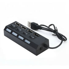 4 PORT USB 2.0 HUB WITH HIGH SPEED ADAPTER ON/OFF SWITCH FOR LAPTOP PC GROOVY