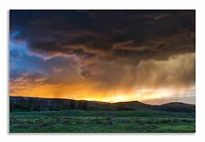 Yellowstone Park Landscape Green Field Canvas Wall Art Picture Home Decor Print