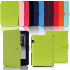 PU leather Magnetic lock flip case cover Amazon kindle voyage 6'' 2014 3G +Wifi