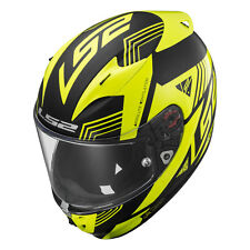 LS2 ARROW R EVO FF323 Neón / NEGRO MATE/BRILLO AMARILLO Moto Casco
