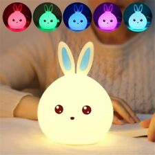 Cute sillicone LED Night Light Wall Lamp Baby Kids Bedroom Home Decor