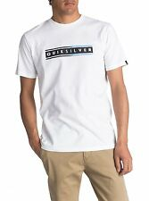 QUIKSILVER MENS T SHIRT.DAILY SURF WHITE COTTON SHORT SLEEVED TOP TEE 7W 29 WBBO