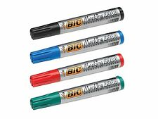 BIC Marking 2300 Permanent Markers Chisel Tip - Colours, Black, Red, Blue, Green