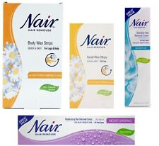 Nair Hair Remover Wax Strips with Camomile & Moisturising Hair Removal Creams