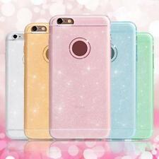 LUSSO ULTRA SOTTILE GLITTER BRILLANTE GEL TPU CUSTODIA COVER per iPhone