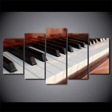 5 Piece Canvas Art Piano Keys Music Canvas Painting Home Decor Wall Pictures
