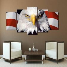 HD Printed eagle flag usa Painting Canvas Print room decor print poster picture