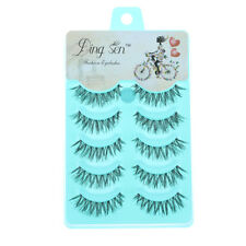 5 Pairs Natural Soft Black Fake Eye Lashes Handmade Thick Fake False Eyelashes