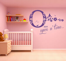 Once upon a time, Wall Art Sticker, Decal. Story Library, book, Children. School