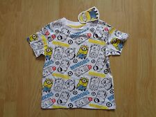 BOYS DESPICABLE ME MINION ALL OVER PRINT T-SHIRT AGE 3-6 YEARS - RRP  £9.99
