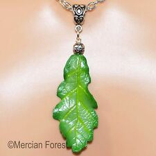 Oak Leaf Pendant in Spring Tones - Pagan Jewellery, Wiccan, Witch, Druid