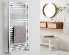 SALE : AURA Straight Chrome Heated Towel Rail / Warmer / Radiator For Bathroom