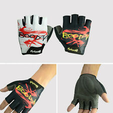 1 Pair Adults Half Finger Gloves Shorts Cycling Gloves Non-slip Shockproof Glove