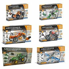 Clementoni Mechanics Lab Building Kits Plane Buggy Helicopter Roadster Etc TOY