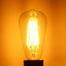 Dimmable ST64 E27 220V/110V 6W 600LM Warm White COB LED Filament Retro Edison Bu
