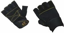 Mens Heavy Duty Weightlifting Gym Cycling Outdoor Leather Sports Gloves S M L XL