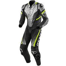 REV'IT! Spitfire Plata 1 Mono Cuero Carreras DEPORTIVO MOTO Funda revit