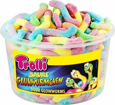 Trolli sweets tubs fried eggs / Dracula / Sour glow worms