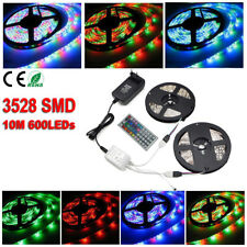 Tira de Luz RGB 600 LED 3528 SMD 10M 2X5M Impermeable Flexible Mando 44 Keys