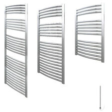AURA Electric Towel Warmer / Heated Towel Rail Radiator, Curved Chrome, Bathroom