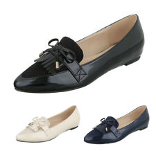 Damen Schuhe Ballerinas Flats Slipper Pumps Bommel Loafers Slip on 36-41