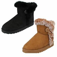 Ladies Spot On Faux Fur Lined Ankle Boots - The Style F4407 ~ N