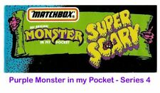 Monster in my Pocket - Series 4 Super Scary - Mini Figure MIMP Matchbox Purple