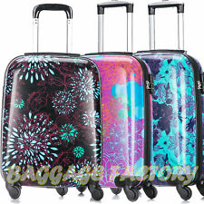 NEW EAGLE Hard Cabin Hand Luggage 4 Wheeled Suitcase Travel Bag Trolley ABS Case