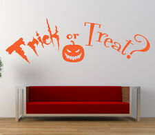 Trick or Treat Quote, Vinyl Wall Art Sticker Decal Mural, Home, Halloween Decor