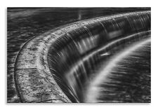 Waterfall Canvas Abstract Black White Overflow Wall Art Picture Home Decor