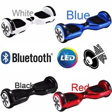 "Hoverboard 6.5"" Speaker Bluetooth Balance Luci LED Overboard Monopattino Scooter"