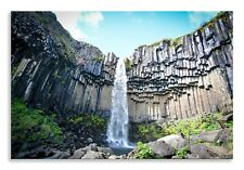 Waterfall Canvas Abstract Green Blue Landscape Wall Art Picture Home Decor