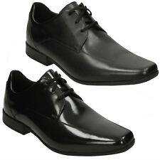 MENS CLARKS LEATHER LACE UP SMART FORMAL OFFICE WEDDING SHOES SIZE GLEMENT OVER
