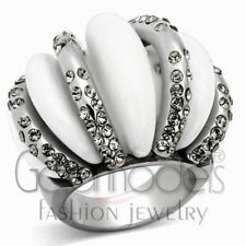 A2464 SIMULATED BLACK DIAMOND 316L STAINLESS STEEL HIGH POLISHED RING