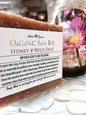 Organic Busy Bee Honey & Wild Oats Infused Goats Milk  -  Exfoliating