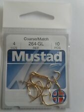 Mustad Classic Sport 264GL Hooks Eel/Carp/Trout Barb Various sizes