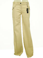 Pantaloni donna FREE MAP Tg. 40 42 Beige Cotone Stretch Made in Italy New