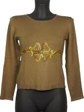 Maglia donna Glamour tg. M Beige Viscosa Stretch Made in Italy New