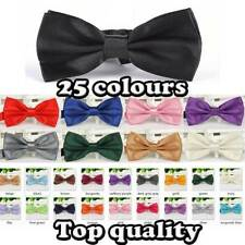 Quality PreTied Mens Dickie Bow Tie Ties BowTie Pre Tied Adjustable Wedding Prom