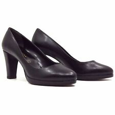DECOLTE' SANDALI KISS KRISS PELLE NERA MADE IN ITALY TACCO 70