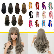25.6/27inch Women's Long Curly Wavy Full Head Hair Wig Heat Resistant Cosplay