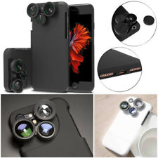 4in1 Camera Lens Kit Fisheye+Macro+Wide Angle+CPL+Phone Case Shell For iPhone