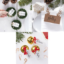 RUSTIC / VINTAGE CHRISTMAS PLACE CARDS Christmas Table Decor Name Place Setting