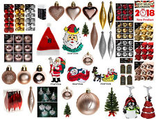 Xmas Tree Decorations Christmas Decor Hangers Snowman Santa Baubles Reindeer Lot