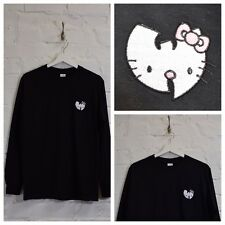 Actual Fact Hello Kitty Wu Tang Clan Japonés Dibujos Negro CAMISETA MANGA LARGA