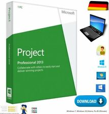 Vollversion Microsoft Project 2013 Professional 1 PC 32/64 Bit Download DVD